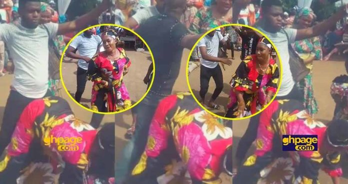 Video of a Muslim woman twerking to Patapaa's One Corner at her wedding
