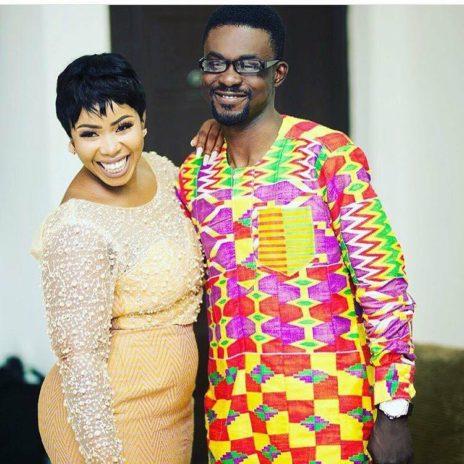 Nana Appiah Mensah and wife , Rose Tetteh