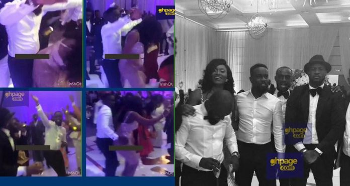Watch Sarkodie and Tracy displaying their dancing skills at their wedding