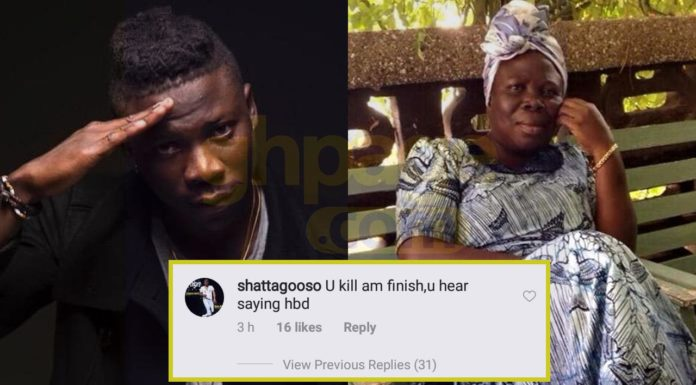 Stonebwoy loses his cool after an SM fan accused him of killing his mum