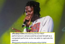 Stonebwoy applauded for his performance at Reggae Sumfest