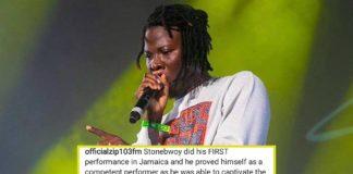 Stonebwoy applauded for his performance at Reggae Sumfest