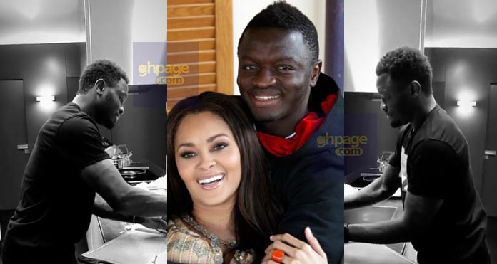 Sulley Muntari cooks for his wife to set relationship goals