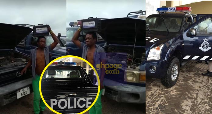 Video: 'Brave' thief caught red-handed stealing from a Police patrol car