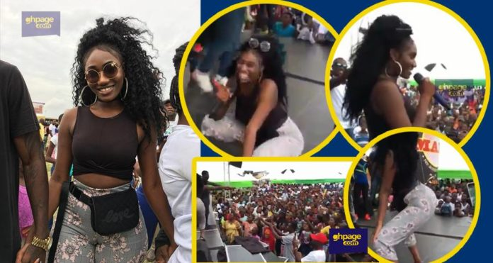 Wendy Shay first stage performance at Despite health fair