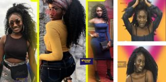 Wendy Shay reacts to the wearing of one way hairstyled weavon