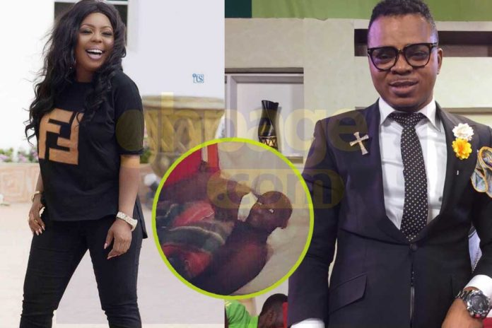 Afia Schwarzenegger reveals the identity of the man with the blanket