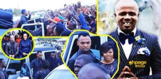 How Rev Obofour and wife were welcomed at Prophet Katakyie Afrifa's funeral service