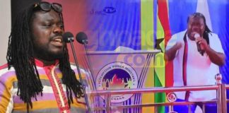 Video: MUSIGA president, Obour spotted preaching in a Church