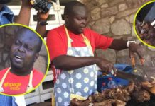 Raymond Dankwa, former capital bank manager grilling pork for survival