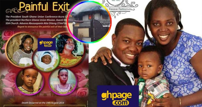 Funeral poster for the SDA pastor's family who died in fire pops up