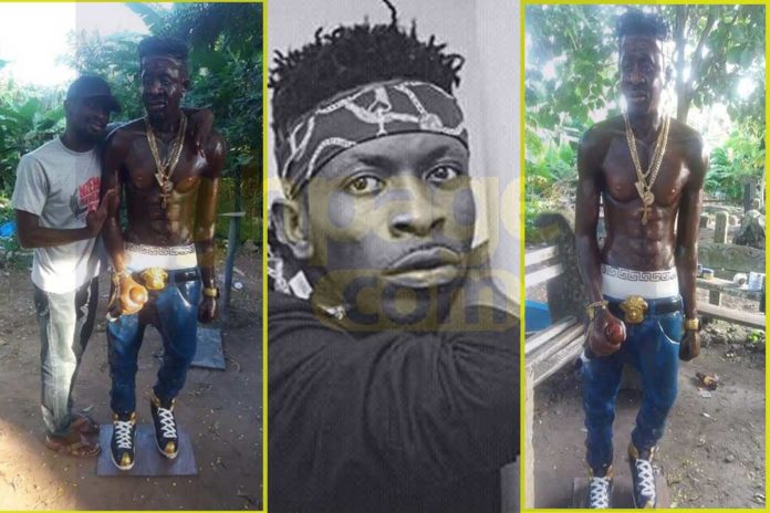 Fan builds statue for Shatta Wale ahead of his album release