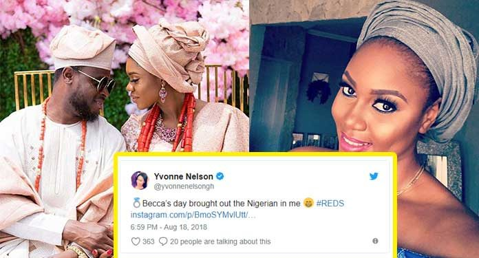 Fans troll Yvonne Nelson for her comments on Becca's wedding