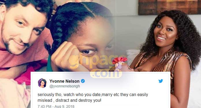 """""""Watch who you date, they can easily mislead and destroy you"""" – Has Yvonne Nelson finally confirmed breakup with her baby daddy, Jamie Roberts?"""
