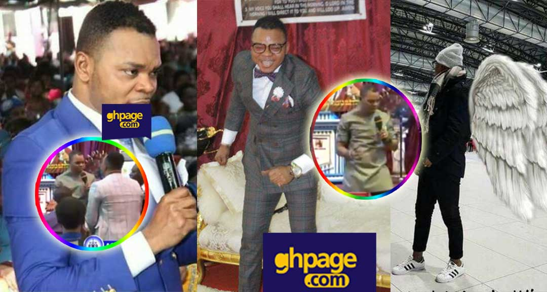 Image result for Pastor Obinim tries to fly to heaven, but his congregation begged him not to.