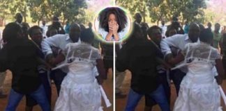 Hell break lose as bride slaps mother-in-law over food at wedding reception [Details]