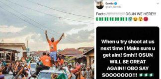 Davido escapes gunshot attack at uncle's campaign