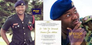Ghanaian soldier dies one month to his wedding through 'hit and run'