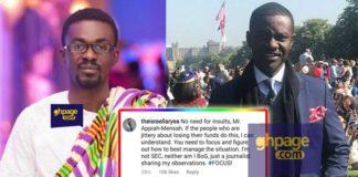 "Israel Laryea replies Nana Appiah Mensah's ""Stupid and Retarded"" insults"