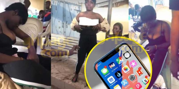 Lady takes drugs, strips down for an iPhone X