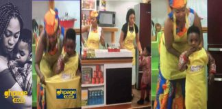 Michy and son Majesty on Mcbrown's kitchen