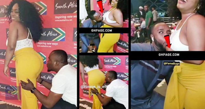Moesha gets her ass kissed by DKB and nipples sucked by a famous Actor