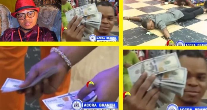 Angel Obinim flaunts $5000 physical cash in Church