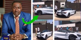 Osei Kwame Despite takes new toy out