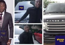 Stonebwoy, until recently never showed the public he owned a Range Rover which made his arch-rival Shatta Wale tagged him as a poor artist who can't even afford to buy cars for his friends.