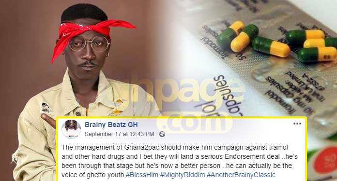 Supa is the right person to fight against Tramadol abuse – Brainy Beatz
