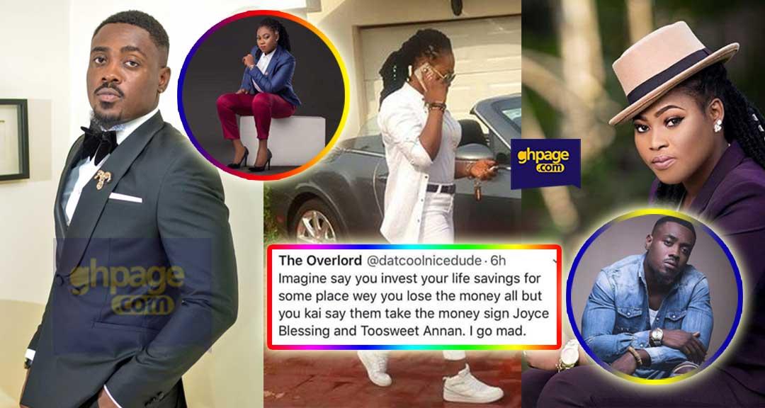 NAM1 spent Menzgold money on Joyce Blessing & Toosweet-Twitter User