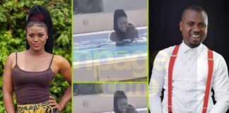 Abeiku Santana caught romancing eShun in a swimming pool