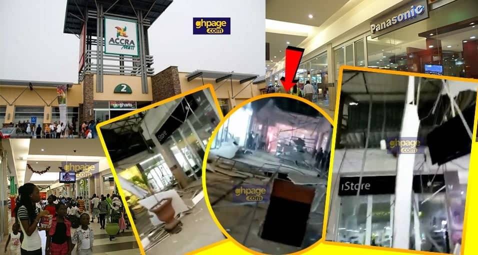 Accra Mall ceiling collapse; two injured