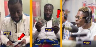 Shatta Wale dashes Andy Dosty and the Day Break Hitz team $1000