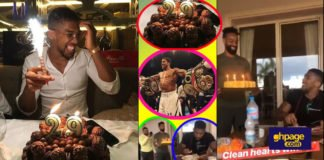 Boxer Anthony Joshua in smiles as he celebrates his 29th birthday
