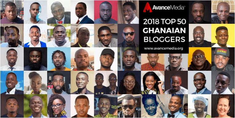 Avance Media announces top 50 Ghanaian best bloggers list for 2018