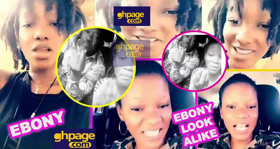 Bullet spotted in a car singing with Ebony look alike