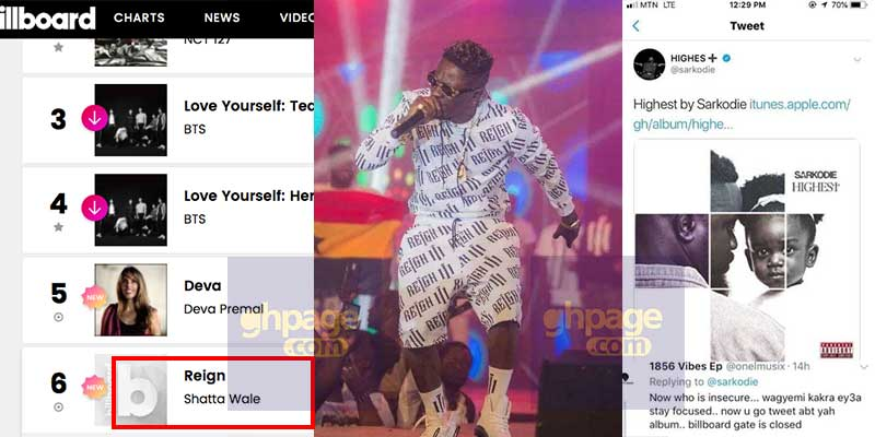 """SM fan clap back at Sarkodie after Shatta Wale's """"REIGN"""" album entered world billboard chart"""