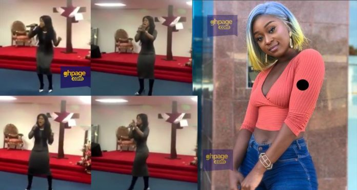 Efia Odo sings in church to prove haters wrong