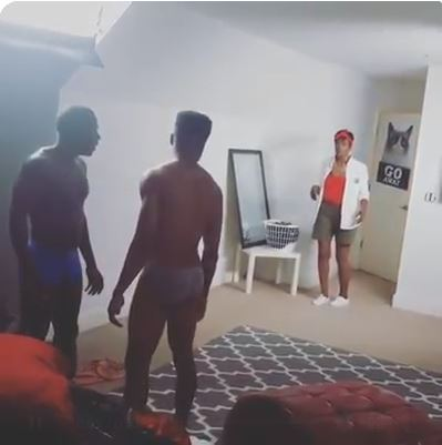 Mother catches 'gay' son in action with another man