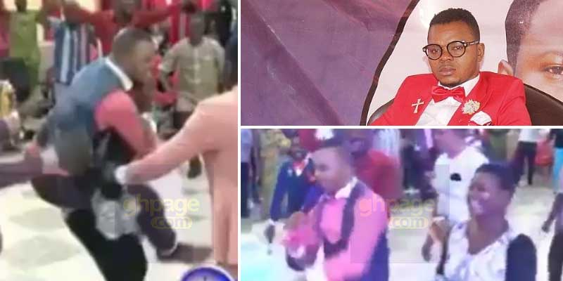 Lady carries Obinim at her back after he prophesied unto her