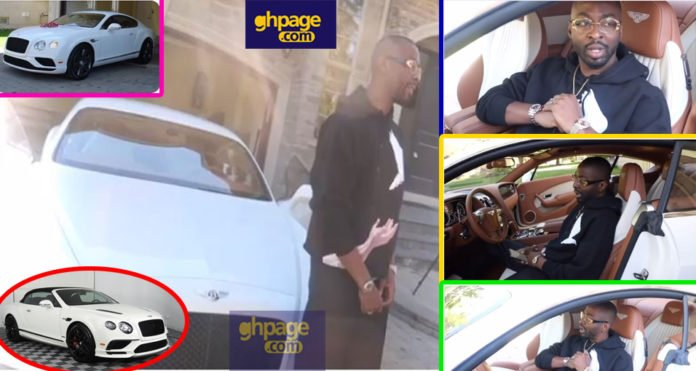 Rich Ghanaian rapper buys 2018 Bentley Continental GT just to shoot new music video