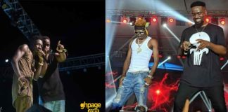 When Sarkodie performed his songs with Shatta Wale at Glo mega music show 2018
