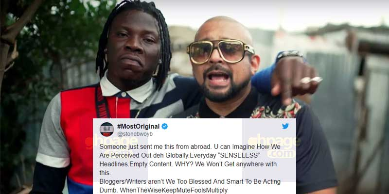 I've not removed Sean Paul from EOM album – Stonebwoy angrily reacts
