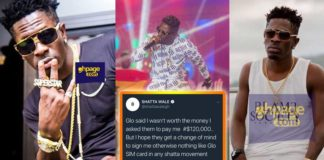 Sign me for $120K or forget selling Glo SIM card to any SM fan-Shatta Wale tells Glo management
