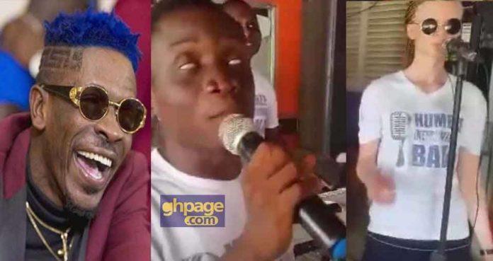Blind musicians preform Shatta Wale's hit song