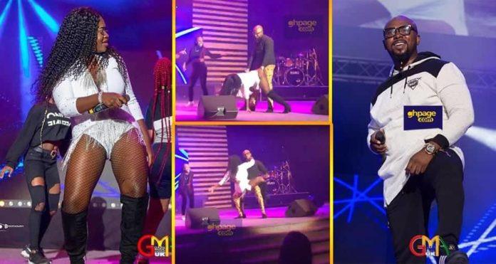 Sista Afia serves Gasmilla with her soft backside on stage