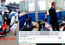 How Ghanaians reacted to man who stormed UniCredit with Mattress