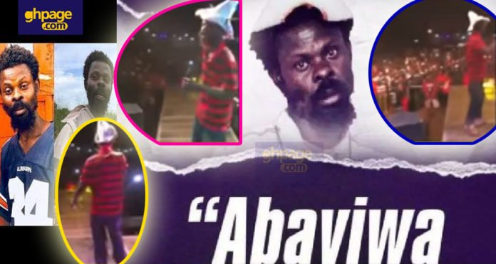 Weefuor Teacher performs his own music live on stage