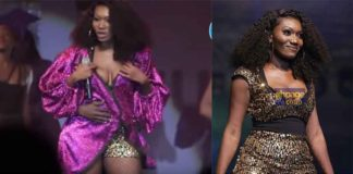 Wendy Shay's N**ple pops out from dress at BF Suma concert